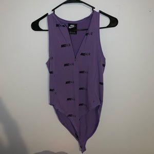 Nike Air purple body suit